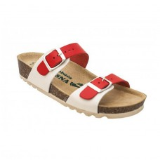 Ženska anatomska papuča | V-001 crvena-bež | 36-42