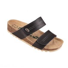 Ženske anatomske papuče | V-002 crna | 36-42