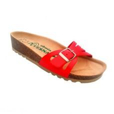 Ženske anatomske papuče | V-004 crvena | 36-42