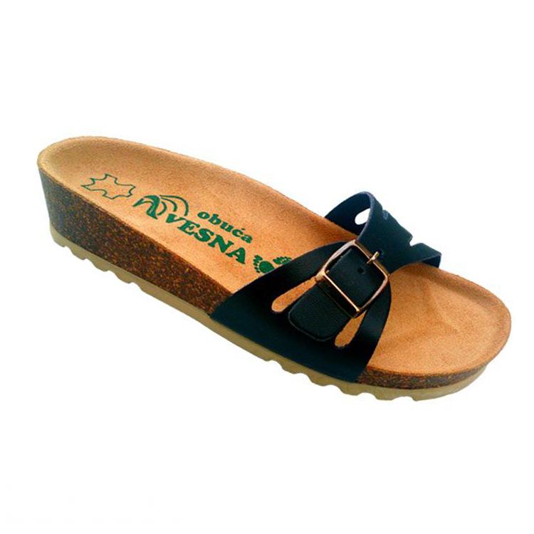 Ženske anatomske papuče   V-004 crna   36-42