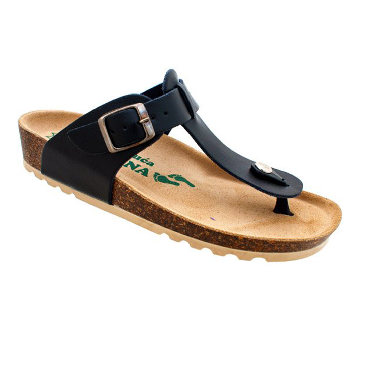 Ženske anatomske papuče | V-006 crna | 36-42